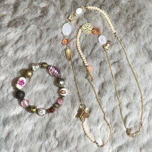 Set of 2 - Vintage Inspired Bracelet & Necklace